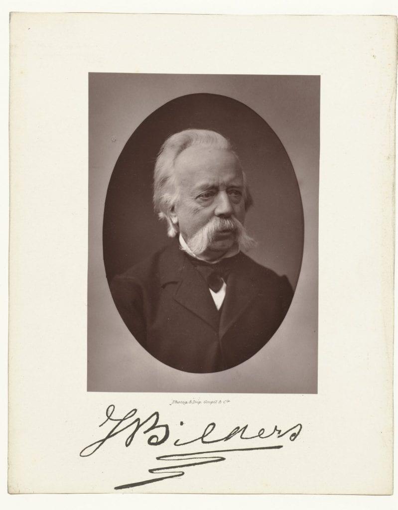 Goupil & Co, Portret en handtekening van J.W. Bilders 1882, woodburytypie 125 x 90 mm, particuliere collectie Wolfheze